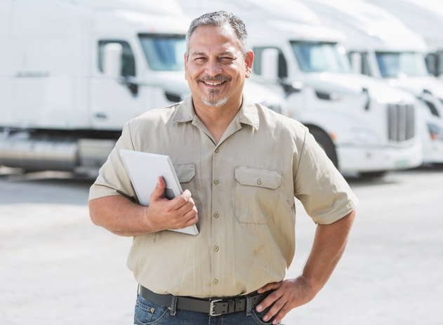 Handsome Guy Selling Truck - Logistics Company Picture